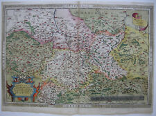 Sachsen Meissen Thüringen altkolor Orig Kupferstichkarte Ortelius 1603