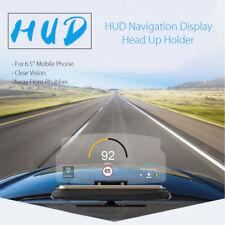 Universal 6.5'' Car HUD Head Up Navigation Display Phone Holder GPS Projector