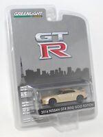 GREENLIGHT GTR 2016 NISSAN GT-R (R35) GOLD EDITION 1:64