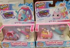 Shopkin Color Change Cuties Qt3-C11 PERFUME LE ZOOM& C12 WATCH WHEELS NEW