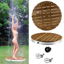 Teakholz Gartendusche Außendusche Pooldusche Garten Pool Dusche Outdoor Shower