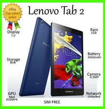 """Lenovo TAB 2 A8-50 Blue 16GB 4G+WiFi ~UNLOCKED~ 8.0"""" Quad Core HD Tablet"""