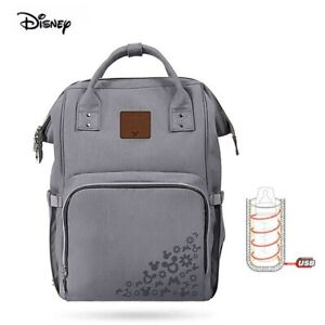 Disney Mickey Mouse Mommy Bag Backpack Baby Diaper Pushchair Diaper Bag, New