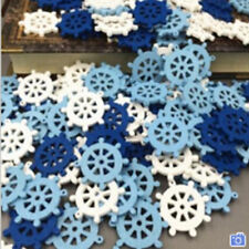 Mini Home Wall 50pcs Embellishment Anchor Nautical Sea Wooden Button Decor