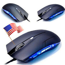 2.4Ghz Optical 1600 DPI LED USB Wired Gaming Game Mouse Mice For PC Laptop Mouse