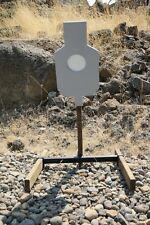 "AR500 Steel Reactive 5.5"" Paddle Silhouette Target Set (21""x12"") (Base Included)"