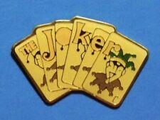 BATMAN - THE JOKER - PLAYING CARDS - RARE VINTAGE 1989 DC COMICS LAPEL PIN