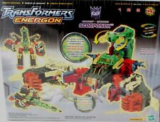 "Transformers Energon 8"" SCORPONOK New Electronic Sounds Factory Sealed 2003"