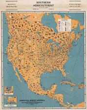 1929 Geographical Publishing Pictorial Resource Map of North America