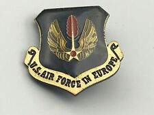 Military U.S. Air Force In Europe Hat Badge Pin Wings Black C4