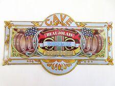 """Metal Door Wall Sign Kitchen Cave Bordeaux Grape Wine Cavern Barrels 4"""" x 8"""""""