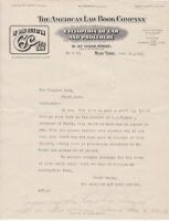 U.S. The American Law Book Company New York Logo 1913 Publishers Letter Rf 42000