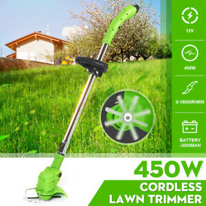 Electric Wireless Grass Weed Trimmer Garden 3000mAh 12V Rechargeable Stretchable
