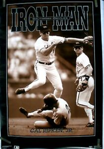CAL RIPKEN JR IRON MAN Costaco Bros Poster 1990 seal broken roll