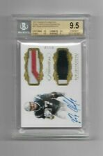 Rob Gronkowski, 2017 Panini Flawless Dual Patches & Autograph, 07/10, BGS 9.5