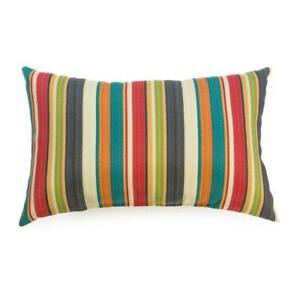 Sunset Stripe Outdoor Lumbar Throw Pillow (2-Pack)