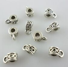 100pcs Tibetan Silver Connectors Spacer Bail Bead Charms Pendants 3x4x6.5mm