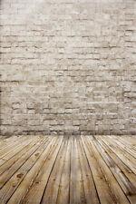 Retro Brick Wall Wood Floor 3x5ft Backdrop Background Photography Vinyl Props