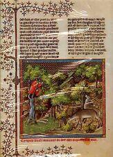 """Gaston Phebus Le Livre de la Chasse Buch v.d. Jagd / 61 Hirsch """"mit dem Gesicht"""""""