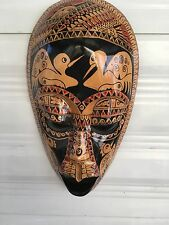 Indonesian wood wall mask face modern