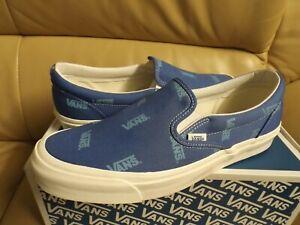 Vans Og Classic Slip-On Canvas Men's Size 8.5 Shoes Bright Cobat/Ai VN0A45JKVQF