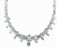 GIA CERTIFIED PEAR H SI2 CENTER SET DIAMOND ROUND PEAR MARQUISE DIAMOND NECKLACE