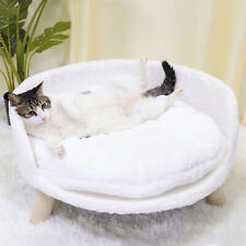 Pet Sofa Bed Raised Cat Chair Small Dog Couch Bed Removable Cushion Sleep House