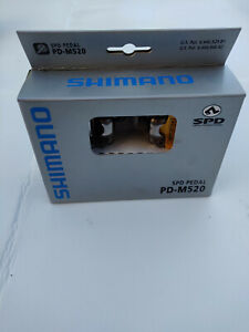 Shimano PD M520 SPD Clipless MTB Pedals Brand New Silver