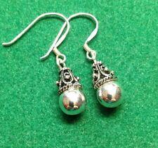 Silver (925) estilo de Bali Pendientes Colgantes - 4.5 gramos