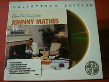 "JOHNNY MATHIS "" OPEN FIRE, TWO GUITARS "" (SONY-24KARAT-GOLD-CD/FACTORY SEALED)"