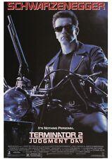 More details for terminator 2 1991 arnold schwarzenegger movie poster canvas wall art film print