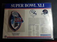 WILLABEE WARD OFFICAL NFL SUPER BOWL XLI PATCH STAT CARD COLTS VS. BEARS
