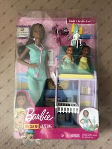 New Barbie Baby Doctor You Can Be Anything Doll, Damaged Box.