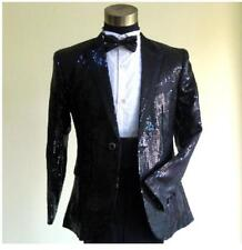 BJ 83 Men's  Sequins Tuxedo Suit&Pants Gangnam Style Psy Jacket Coat MC Clothing