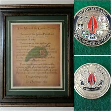 Mc-Best: Socom Coin and Personalized Sf Men of the Green Beret Framed