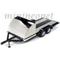 AUTOWORLD AMM1166 TANDEM AXLE TRAILER 1/18 with BLACK SHIELD / FENDERS