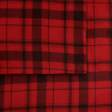 Cuddl Duds FLANNEL queen SHEET SETS / red plaid / BRAND NEW / RETAIL: $89.99