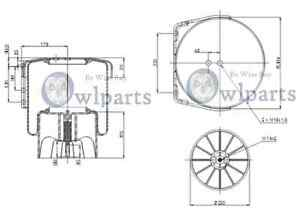 FITS IVECO STRALIS, AIR SPRING / AIR BAG, REAR 2 YEAR WARRANTY