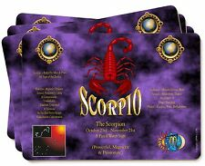 Scorpio Star Sign of the Zodiac Picture Placemats in Gift Box, ZOD-8P