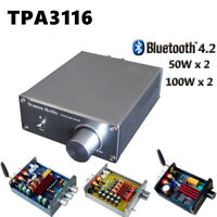 HIFI Digital Amplifier 2.0 Stereo Bluetooth 4.2 TPA3116 mini Power Amplifier