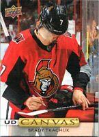 2019-20 Upper Deck Hockey UD Canvas Card #C15 Brady Tkachuk