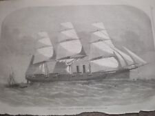 US Navy USS Niagara 1857 old print and article