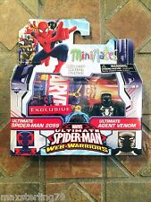 Marvel Minimates ULTIMATE SPIDER-MAN 2099 & AGENT VENOM Animated Walgreens