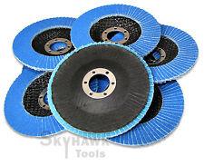 10 Pc 4 12 Zirconia Sanding Paper Grinding Flap Discs 120 Grit 78 Arbor
