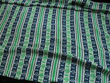Vintage Double Knit Nautical Sailing Anchor Blue Design Sewing Fabric 1+ yd Poly