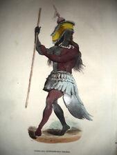 INDIANO,DANZA,AMERICA.xilografia originale 1843 AMERICA California