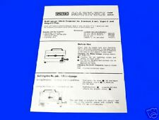 EUMIG 501 8 MM CINE Projector Instruction Book