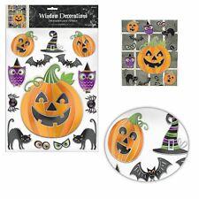 14 Halloween Novelty Monster Pumpkin Window Stickers Party Decorations Kids