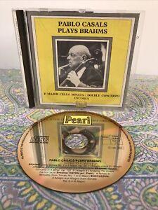 Pablo Casals  [Cello] Plays Brahms (CD, 1989, Import, Mono, GEMM)