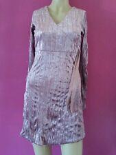 XANAKA robe /tunique  velour tt doux t 34/36 couleur vieux rose  TRES BON  ETAT